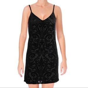 Aqua Velvet Burnout Slip Dress